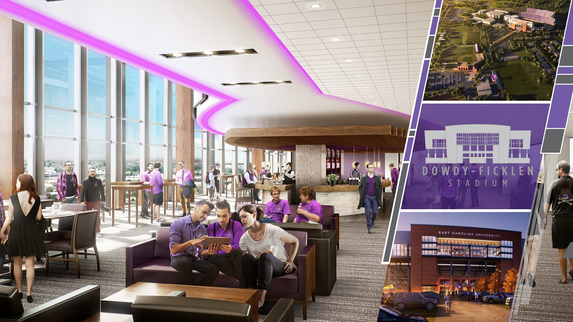 Taylor Family Gives 1 Million Leadership Gift For Dowdy Ficklen Renovation Campaign East Carolina Pirate Club
